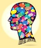 A cabeça perfila o diálogo Symbols_01 Imagem de Stock Royalty Free