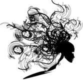 Cabeça preta do ornamento Ilustração Stock