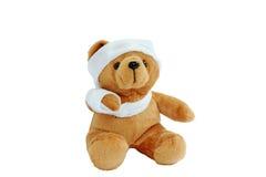 Cabeça quebrada boneca do urso Fotos de Stock
