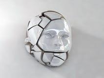 Cabeça quebrada da porcelana foto de stock