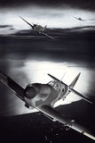 Cabeça-quente de Supermarine durante o voo sobre um porto Imagem de Stock Royalty Free