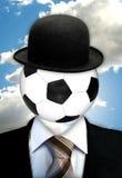 Cabeça sobre o futebol ilustração royalty free
