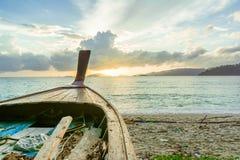 Cabeça tailandesa velha do barco da cauda longa Foto de Stock
