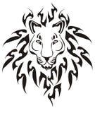 Cabeça tribal do leão, vetor Fotografia de Stock