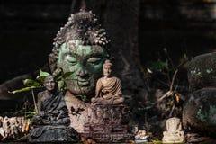 Cabeça verde da Buda Imagens de Stock Royalty Free