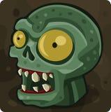Cabeça verde do zombi ilustração do vetor