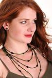 Cabeça vermelha bonita com freckles Imagem de Stock Royalty Free