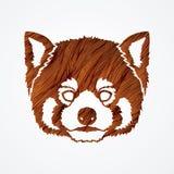 Cabeça vermelha de Panda Face ilustração do vetor