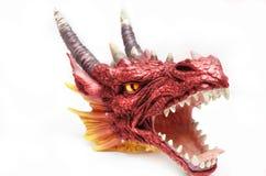 Cabeça vermelha do dragão Fotos de Stock Royalty Free