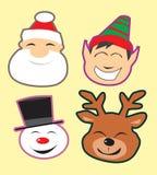 Cabeças bonitos do Natal Fotografia de Stock