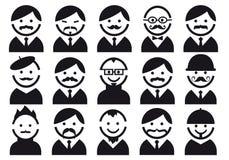 Cabeças com bigodes, jogo do vetor Foto de Stock Royalty Free