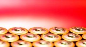 Cabeças da bateria foto de stock