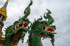 Cabeças da escultura do Naga Imagens de Stock Royalty Free