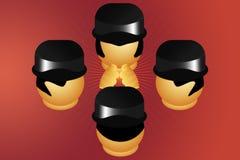 Cabeças da reunião Imagens de Stock