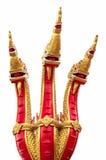 Cabeças da serpente ou do Naga de Naka ou serpente no templo budista em Tha Imagens de Stock Royalty Free