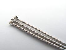 Cabeças de agulhas do acupunture foto de stock royalty free