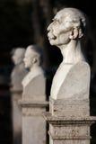 Cabeças de fala das estátuas a Janiculum em Roma, Itália Foto de Stock Royalty Free