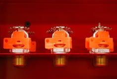 Cabeças de sistema de extinção de incêndios Fotografia de Stock