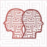 Cabeças do labirinto Imagem de Stock Royalty Free