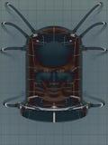 Cabeças do laboratório ilustração royalty free