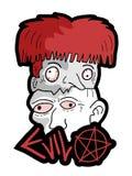 Cabeças do medo de Dia das Bruxas ilustração stock