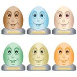 Cabeças do ovo de Easter em uma base Foto de Stock Royalty Free