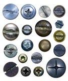 Cabeças do parafuso Imagem de Stock