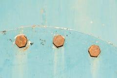 Cabeças do parafuso oxidadas muito velhas, parafusos Fotos de Stock