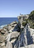 Cabeças do regulador no parque nacional de Booderee NSW austrália Imagens de Stock