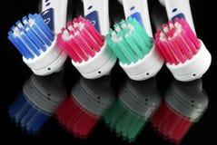 Cabeças do Toothbrush fotografia de stock royalty free