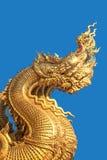 Cabeças douradas da serpente Fotografia de Stock Royalty Free