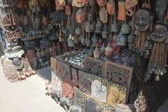 Cabeças e máscaras da Buda Imagem de Stock
