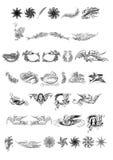 Cabeças e peixes dos redemoinhos dos pássaros ilustração do vetor
