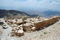 Cabeças monumentais do deus na montagem Nemrut Fotografia de Stock