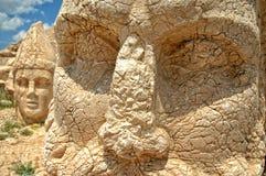 Cabeças monumentais do deus na montagem Nemrut, Turquia Imagem de Stock