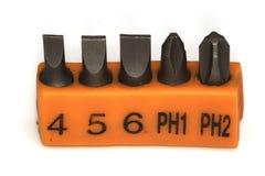 Cabeças para a chave de fenda Fotos de Stock
