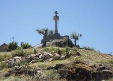 Cabeço da Forca (gallows mount) Pillory in Castelo Novo, Castelo Branco, Beira Baixa, Portugal. The Cabeço da Forca (gallows mount) Pllory in Castelo Novo Stock Images