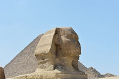 A cabe?a da grande esfinge de Giza, o Cairo, Egito fotos de stock