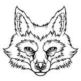 Cabe?a do Fox ilustração stock