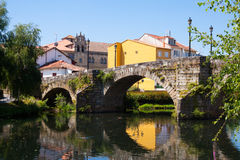 Free Cabe River And Old Bridge At Monforte De Lemos Royalty Free Stock Photo - 58465565