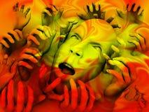 Cabeça assustador 43 Imagem de Stock Royalty Free