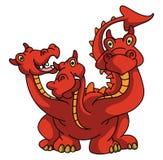 Cabeça de Drago With Three Imagem de Stock Royalty Free