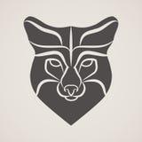 Cabeça do símbolo da raposa velha Imagens de Stock