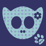 Cabeça do esqueleto do gato Fotografia de Stock