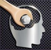 Cabeça modelo cortada afastado Imagem de Stock