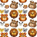 Cabeças animais sem emenda Imagens de Stock