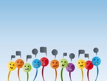 Cabeças de fala coloridas Imagens de Stock Royalty Free