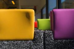 Cabeceiras coloridas do trem Imagens de Stock