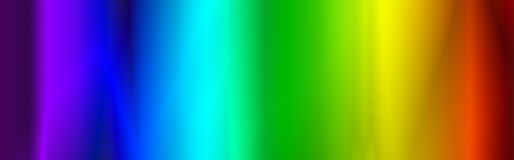 Cabecera/bandera del Web del arco iris Fotos de archivo libres de regalías
