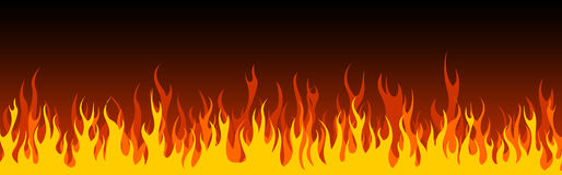 Cabecera/bandera del Web del fuego Fotografía de archivo